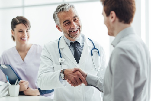 Integrated Healthcare | Happy Doctor and Patient